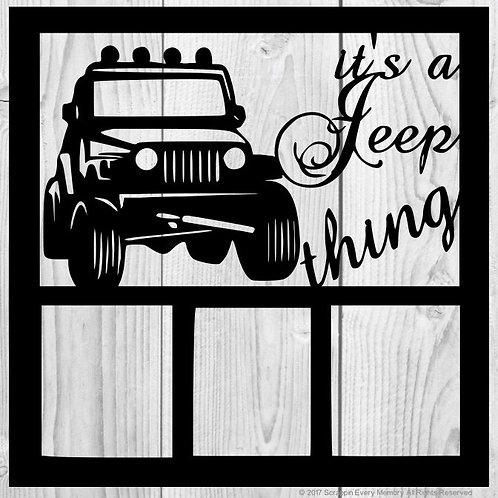 It's a Jeep Thing Scrapbook Overlay