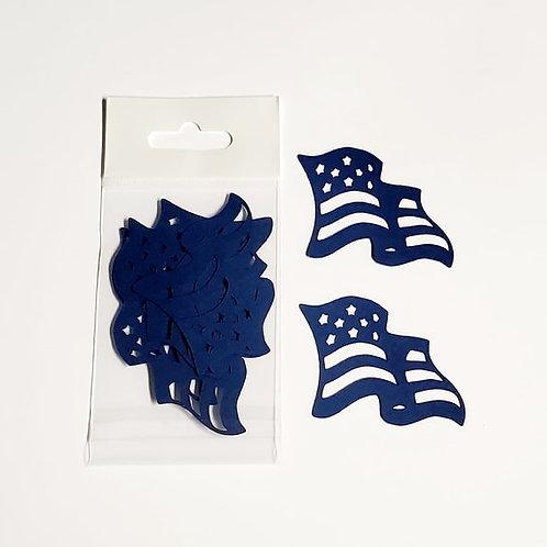 American Flag Itsy Bitsy Embellishments
