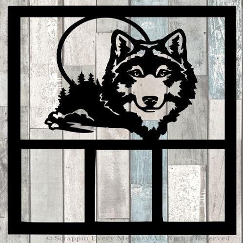 Wolf Scrapbook Overlay