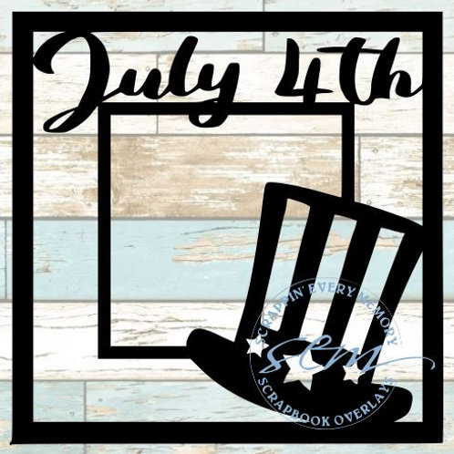 July 4th Scrapbook Overlay