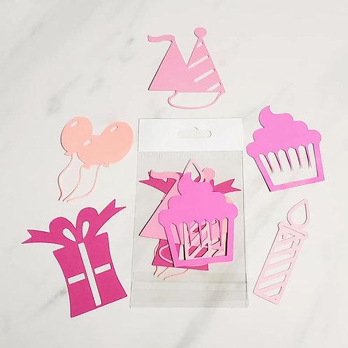 Birthday Die Cut Silhouette Mini Set