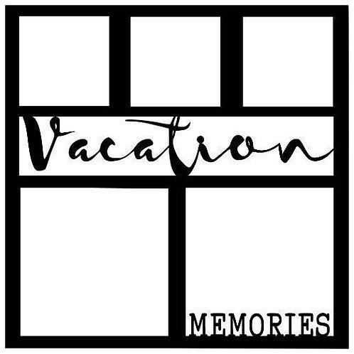 Vacation Memories Scrapbook Overlay