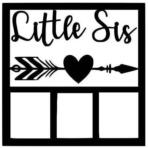 Little Sis Scrapbook Overlay