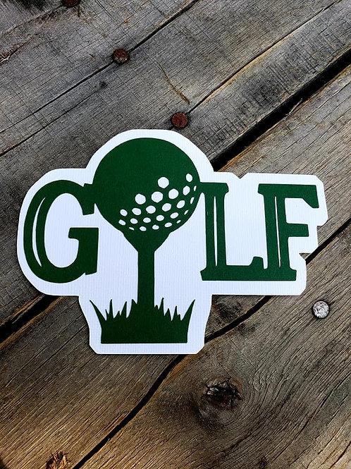 Golf Paper Piecing Die Cut