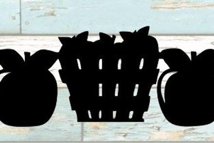 Apple Baskets Scrapbook Border