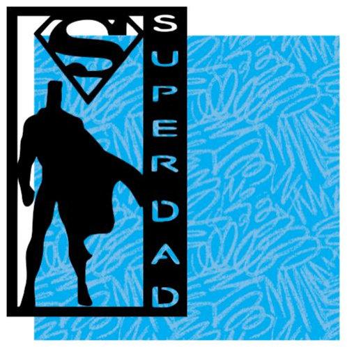 Super Dad Vertical Scrapbook Title