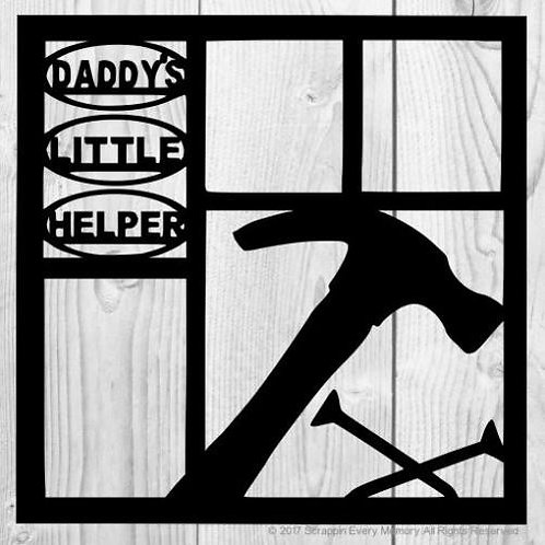 Daddy's Little Helper Scrapbook Overlay