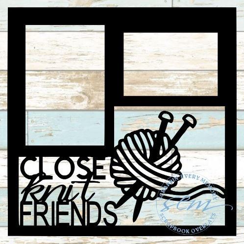 Close Knit Friends Scrapbook Overlay