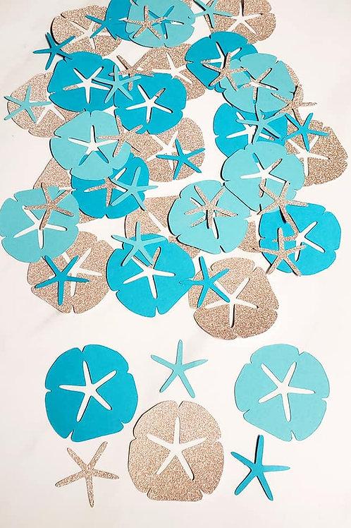 Beach Theme Scrapbook Page Confetti