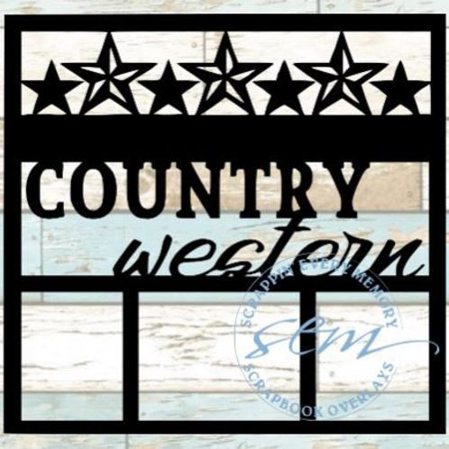 Country Western Scrapbook Overlay