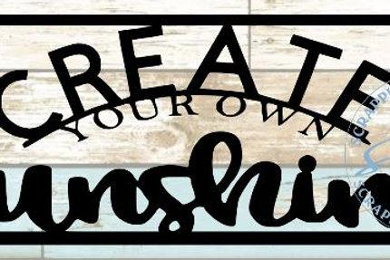 Create Your Own Sunshine Scrapbook Title