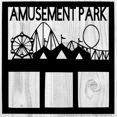Amusement Park Scrapbook Overlay