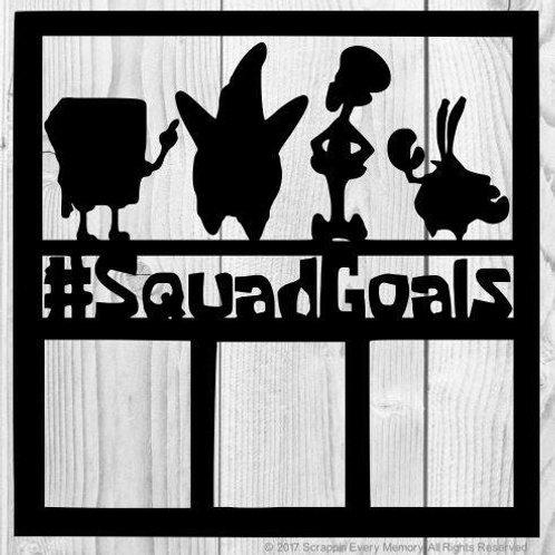Spongebob Squadgoals Scrapbook Overlay