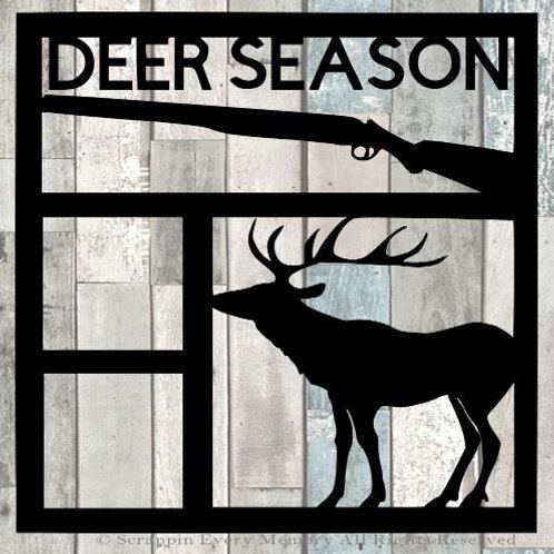 Deer Season Scrapbook Overlay