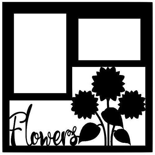 Flowers Scrapbook Overlay