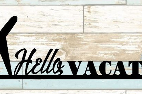 Hello Vacation Scrapbook Border