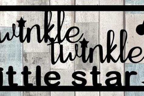 Twinkle Twinkle Little Star Scrapbook Title