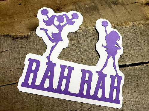 Rah Rah Paper Piecing Die Cut