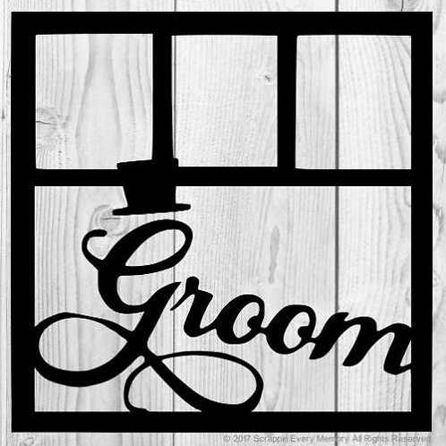 Groom Scrapbook Overlay