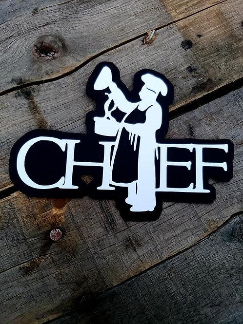 Chef Paper Piecing Die Cut