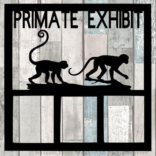 Primate Exhibit Scrapbook Overlay