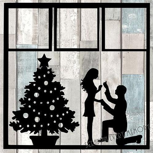 Christmas Proposal Scrapbook Overlay