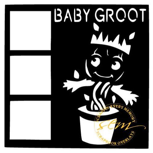 Baby Groot Scrapbook Overlay