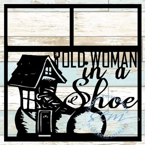 Old Woman In A Shoe Scrapbook Overlay