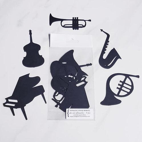 Music Instruments Die Cut Silhouette Mini Set