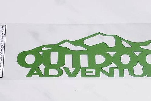Outdoor Adventure Scrapbook Deluxe Die Cut