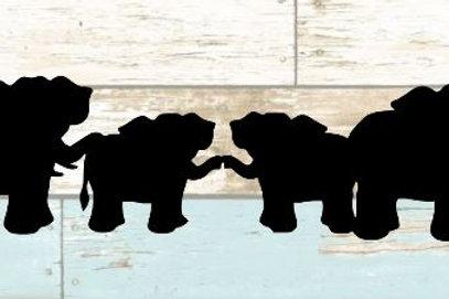 Elephant Scrapbook Border