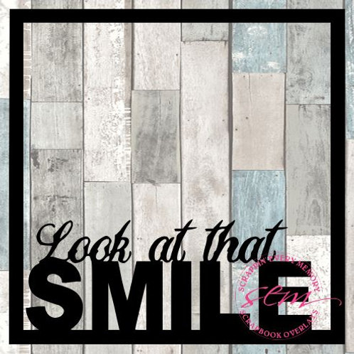 Look At That Smile Scrapbook Overlay
