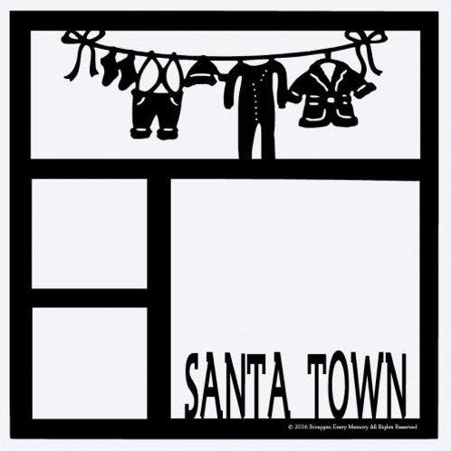 Santa Town Scrapbook Overlay