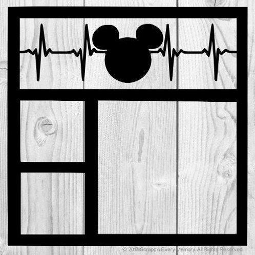 Mickey Heartbeat Scrapbook Overlay