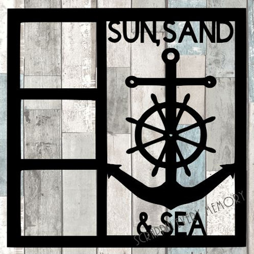 Sun Sand & Sea Scrapbook Overlay