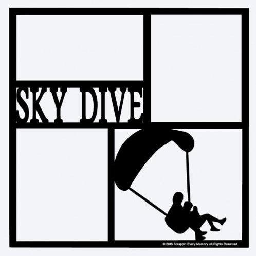 Sky Dive Scrapbook Overlay