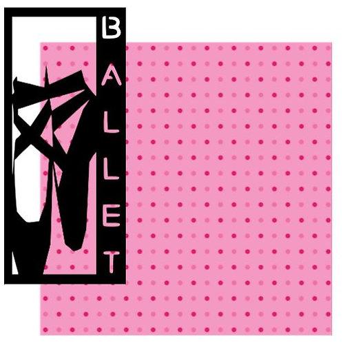 Ballet Vertical Scrapbook Title