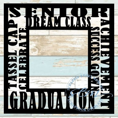 Graduation Tag Text Scrapbook Overlay