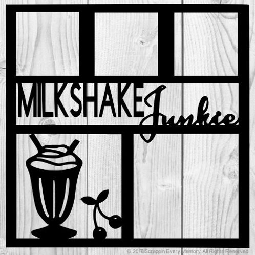 Milkshake Junkie Scrapbook Overlay