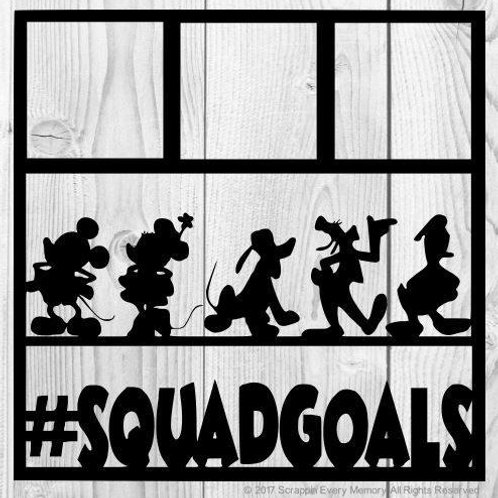 Mickey & Friends Squadgoals Scrapbook Overlay