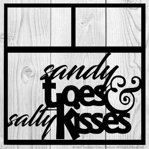 Sandy Toes & Salty Kisses Scrapbook Overlay