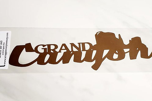 Grand Canyon Scrapbook Deluxe Die Cut