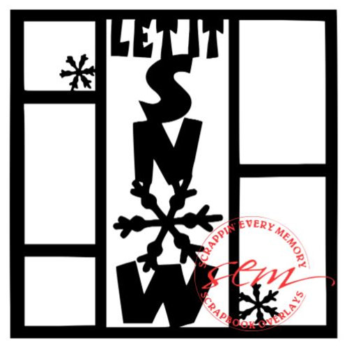 Let It Snow Scrapbook Overlay