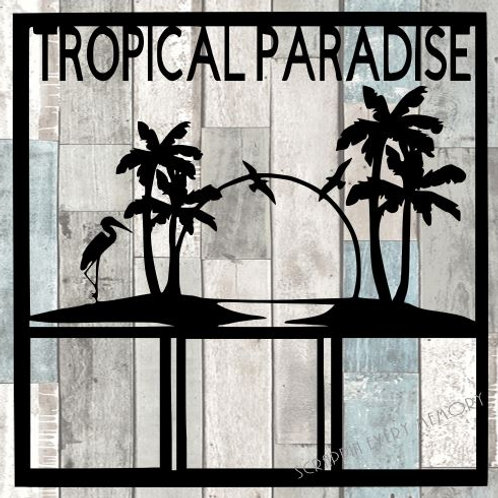 Tropical Paradise Scrapbook Overlay
