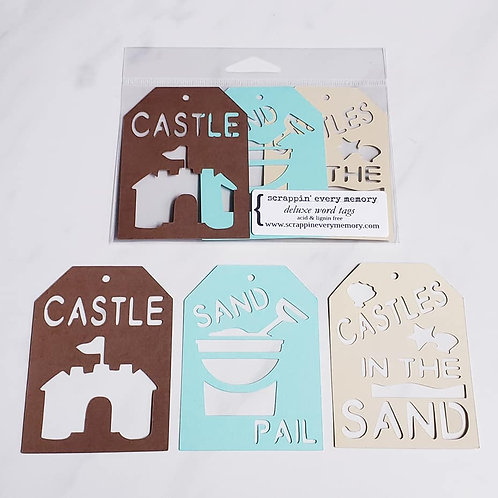Sand Castle Deluxe Word Tags