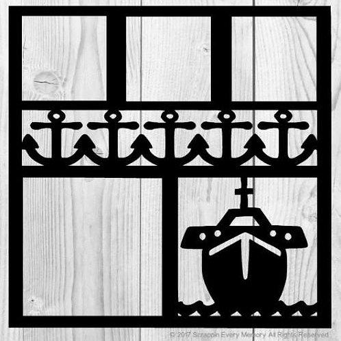 Ship & Anchors Scrapbook Overlay