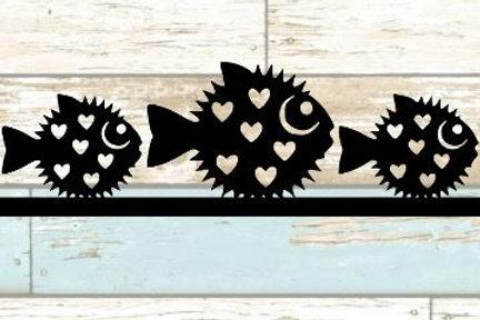 Puffer Fish Scrapbook Border