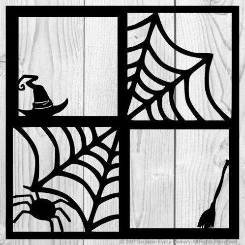 Spider Webs Scrapbook Overlay