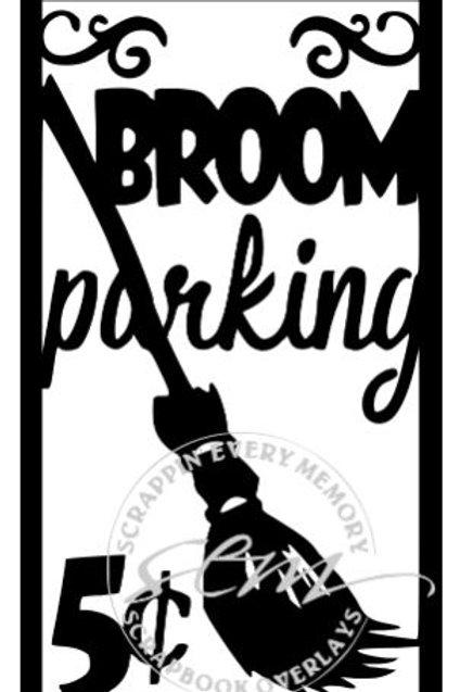 Broom Parking Vertical Scrapbook Title