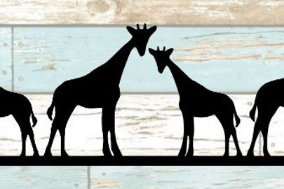 Giraffe Scrapbook Border